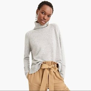 J. crew turtleneck sweater with side slits